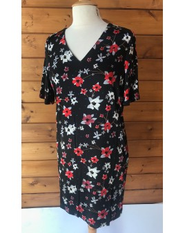Robe Yaya Straight Flower Print