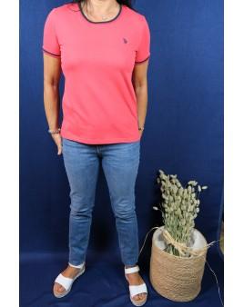 Tee-shirt rouge u.s polo