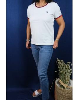 Tee-shirt blanc u.s polo