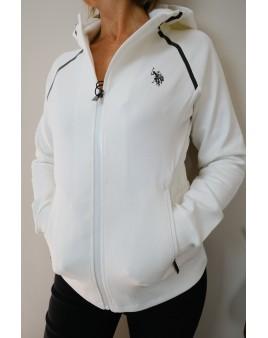 veste blanche à capuche US Polo