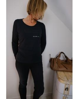 t-shirt manches longues noir US Polo