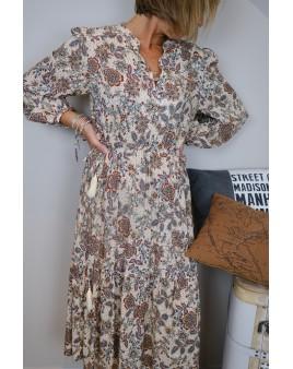 robe rika à fleurs mkt