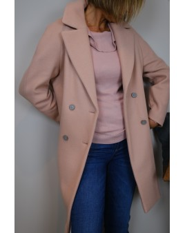 manteau rose pale trench&coat